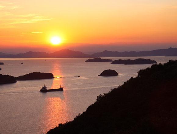 三百山の夕日1
