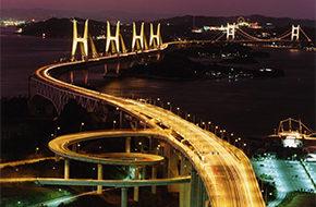 瀬戸大橋ライトアップ1